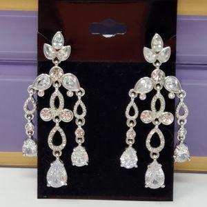 Crystal dangle chandelier earrings